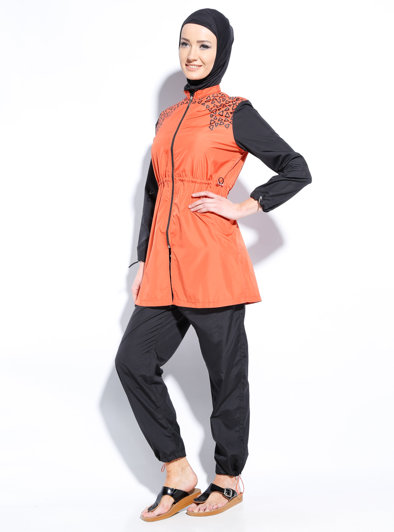 مایو اسلامی پوشیده آجری MARINA MAYO