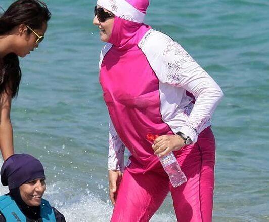 لباس شنای اسلامی مایو پوشیده نیمه پوشیده بورکینی دخترانه زنانه 2016