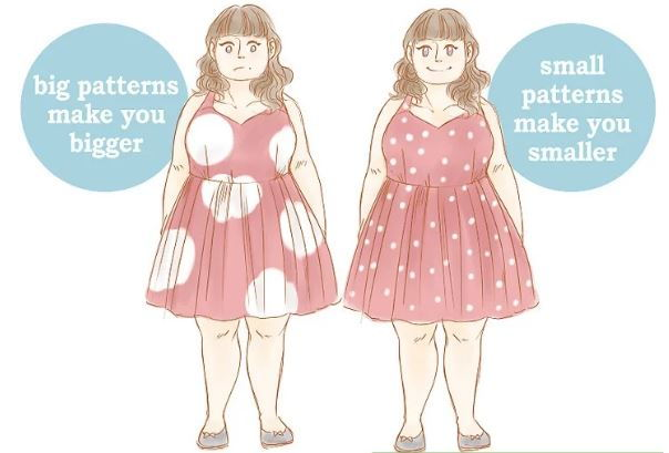 انتخاب پوشاک با طرح های ریز برای افراد درشت اندام