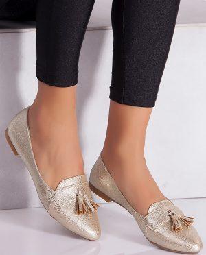 کفش عروسکی طلایی کفش کفش عروسکی - طلایی - کفش  Ayakkabi Havuzu