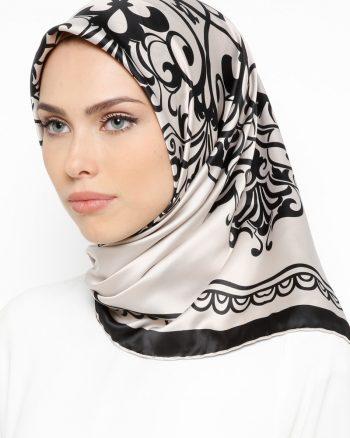 ابریشم رویال روسری قهوه ای سموری مشکی ابریشم - رویال - روسری - قهوه ای سموری - مشکی  Misirli