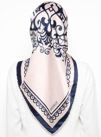 ابریشم رویال روسری صورتی روشن سورمه ای ابریشم - رویال - روسری - صورتی روشن - سورمه ای  Misirli