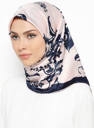 ابریشم رویال روسری صورتی روشن سورمه ای ابریشم – رویال – روسری – صورتی روشن – سورمه ای  Misirli