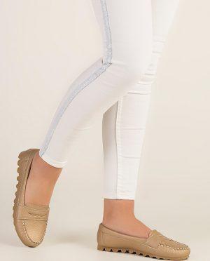 کفش عروسکی طلایی کفش عروسکی - طلایی  Zenneshoes