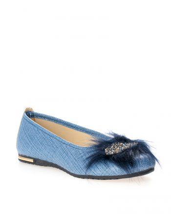 کفش عروسکی آبی کفش عروسکی - آبی  Ayakkabi Modasi