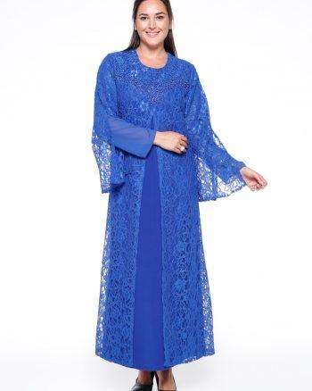 توری لباس شب  آبی توری - لباس شب  - آبی  He&de