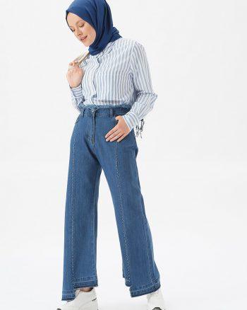 پارچه ای جین شلوار سورمه ای پارچه ای - جین - شلوار - سورمه ای  Benin