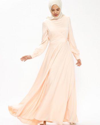 رویال لباس شب  نارنجی کرم سالمون رویال - لباس شب  - نارنجی کرم سالمون  Minel Ask