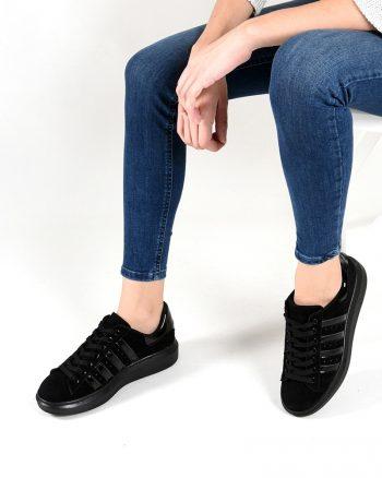 کفش اسپرت  مشکی جیر کفش اسپرت  - مشکی - جیر  Sapin