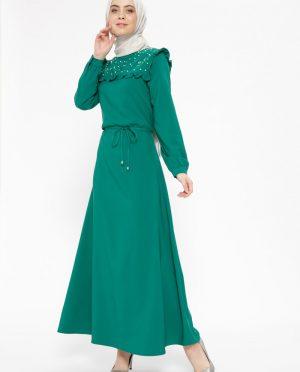 مروارید دوزی شده پیراهن سبز مروارید دوزی شده - پیراهن - سبز  Cml Collection