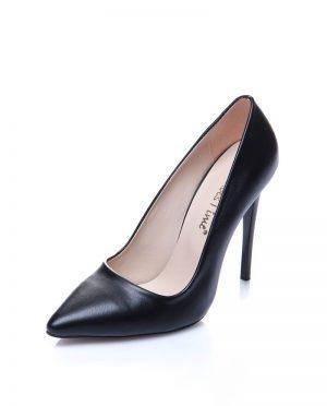کفش پاشنه بلند  مشکی چرم کفش پاشنه بلند  - مشکی - چرم  Shoestime