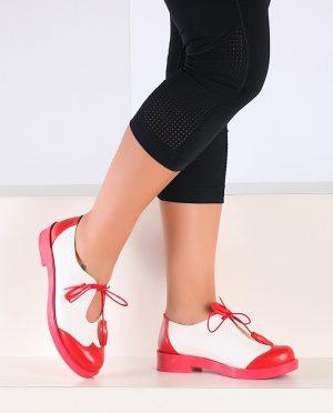 کفش قرمز سفید صورتی کفش - قرمز - سفید - صورتی  Pembe Potin