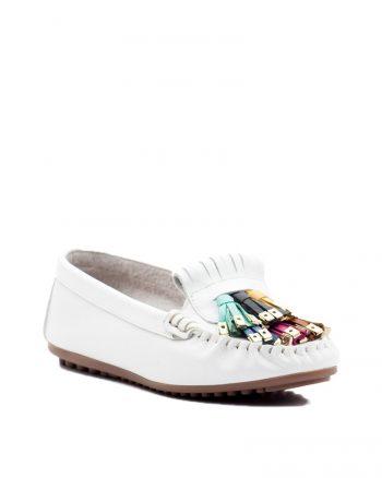 کفش عروسکی سفید کفش عروسکی - سفید  Deripabuc