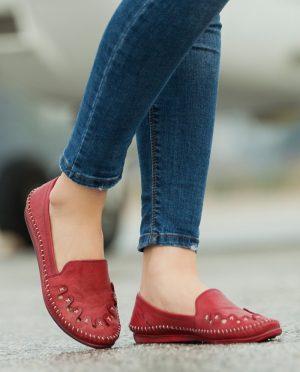 کفش عروسکی زرشکی کفش عروسکی - زرشکی  Deripabuc
