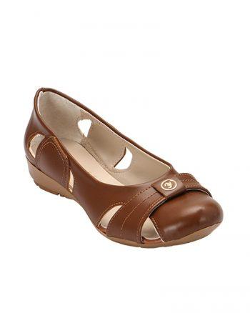 کفش عروسکی قهوه ای کفش عروسکی - قهوه ای  Zenneshoes