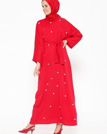 مهره دوزی شده  پیراهن روشن قرمز مهره دوزی شده  - پیراهن - روشن روشن - قرمز مهره دار Tuncay