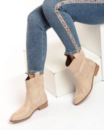 پوتین بژ جیر پوتین - بژ - جیر  Shoestime