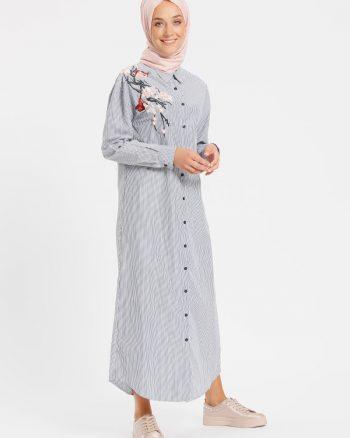 ابریشمی قلاب دوزی شده پیراهن سورمه ای ابریشمی - قلاب دوزی شده - پیراهن - سورمه ای  Benin