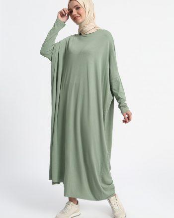 پارچه ای لخت پیراهن سبز ساده پارچه ای - لخت - پیراهن - سبز - ساده  Everyday Basic