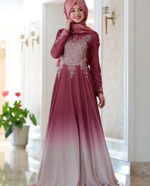 لباس شب  گل اناری  لباس شب  - گل اناری   Gamze Ozkul