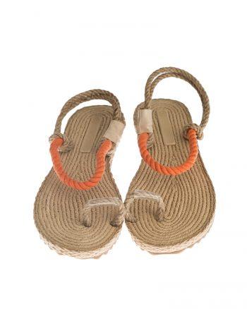 حصیری طناب صندل نارنجی حصیری - طناب - صندل - نارنجی  Gio & Mi