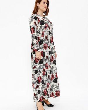 مروارید دوزی شده  طرحدار پیراهن رنگ گل رز مروارید دوزی شده  - طرحدار - پیراهن - رنگ گل رز  Metex