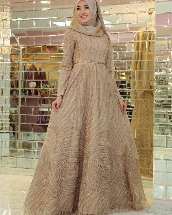 لباس شب  طلایی لباس شب  - طلایی  Gamze Ozkul