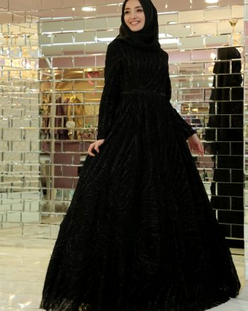 لباس شب  مشکی لباس شب  - مشکی  Gamze Ozkul
