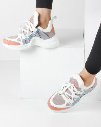 کفش اسپرت  سفید صورتی روشن کفش کفش اسپرت  - سفید - صورتی روشن - کفش  Inan Ayakkabi