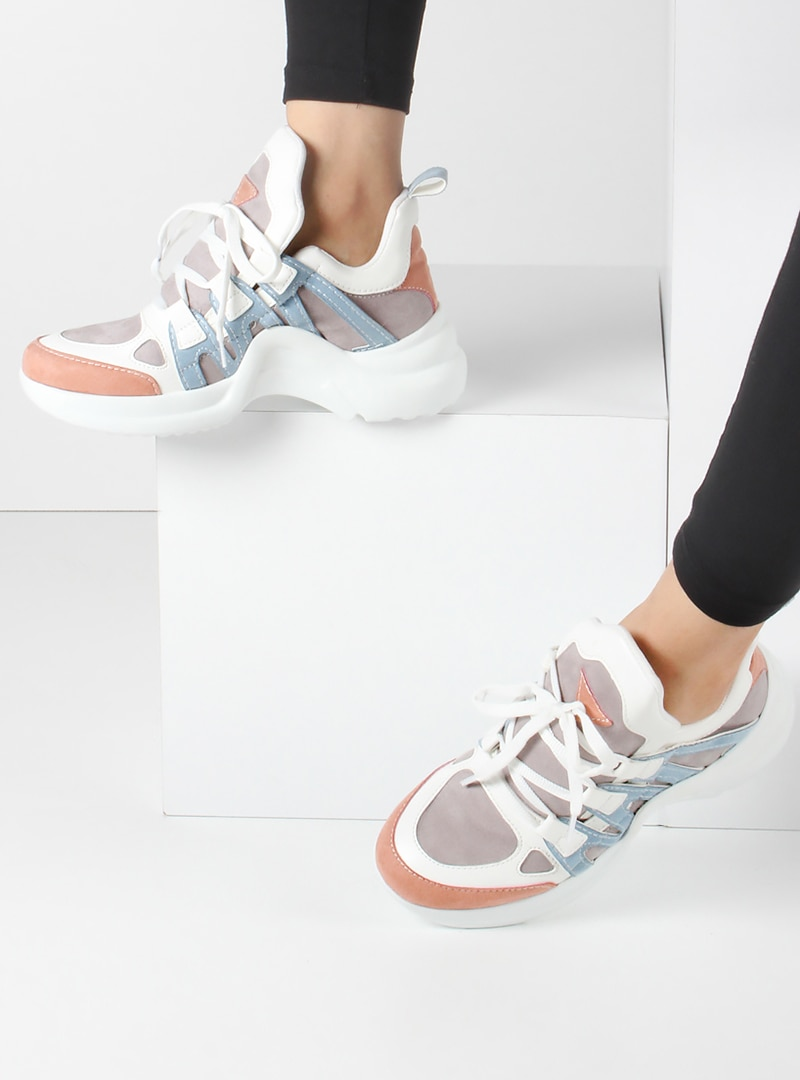 کفش اسپرت  سفید صورتی روشن کفش کفش اسپرت  – سفید – صورتی روشن – کفش  Inan Ayakkabi