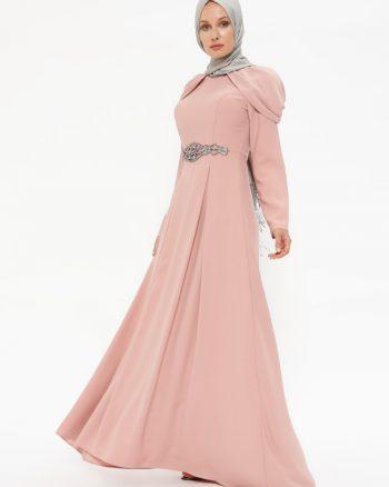 سنگی زینتی لباس شب  رنگ گل رز سنگی - زینتی - لباس شب  - رنگ گل رز  Puane