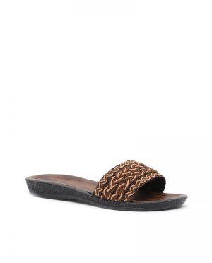دمپایی قهوه ای مسی رنگ کفش دمپایی - قهوه ای - مسی رنگ - کفش  Ayakkabi Modasi