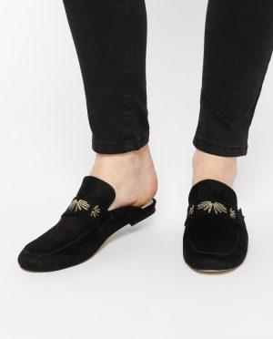 دمپایی مشکی جیر کفش دمپایی - مشکی - جیر - کفش  Ayakkabi Havuzu