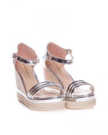 کفش پاشنه بلند  نقره ای کفش کفش پاشنه بلند  - نقره ای - کفش  Ayakkabi Havuzu