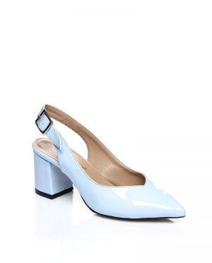کفش پاشنه بلند  آبی ورنی کفش پاشنه بلند  - آبی - ورنی  Shoestime
