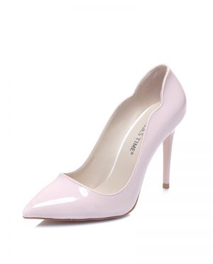 کفش پاشنه بلند  صورتی روشن ورنی کفش پاشنه بلند  - صورتی روشن - ورنی  Shoestime