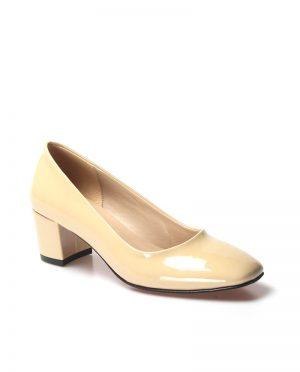 کفش پاشنه بلند  کرمی ورنی سریع کفش پاشنه بلند  - کرمی - ورنی - سریع  Fast Step