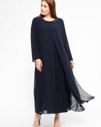 یقه دار طرح دار پیراهن سورمه ای آرمینا یقه دار - طرح دار - پیراهن - سورمه ای - آرمینا  Armine