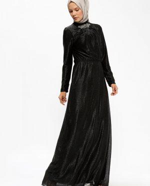 ??? نگین دار لباس شب  مشکی ??? - نگین دار - لباس شب  - مشکی  Minel Ask