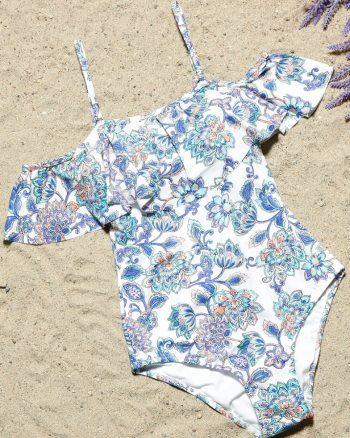 bikini زنانه ????? ??? - مایو - سفید - آبی ????? ???   Aquella 421980