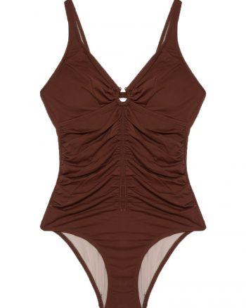 bikini زنانه آستین کوتاه - مایو - قهوه ای     Reflections 447977