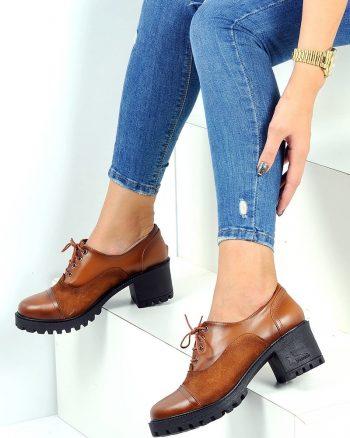 کفش زنانه کفش - قهوه ای - صورتی     Pembe Potin 561801
