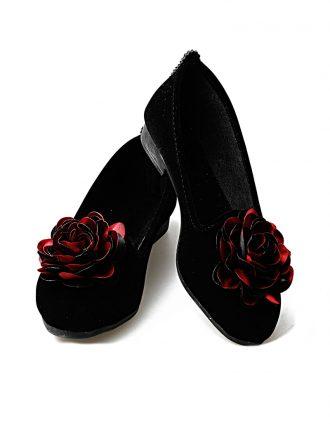 کفش تخت عروسکی زنانه کفش عروسکی – زرشکی – مشکی – رنگارنگ   راحتی Renkli Butik 619515