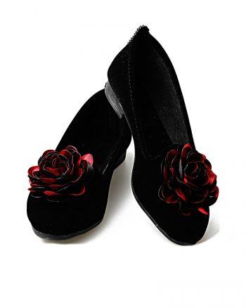 کفش تخت عروسکی زنانه کفش عروسکی - زرشکی - مشکی - رنگارنگ   راحتی Renkli Butik 619515