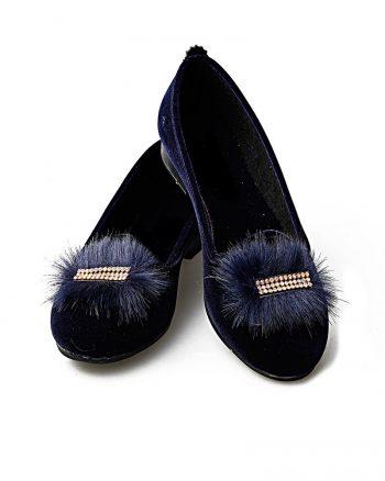 کفش تخت عروسکی زنانه کفش عروسکی - سورمه ای - رنگارنگ   راحتی Renkli Butik 619518