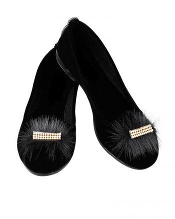 کفش تخت عروسکی زنانه کفش عروسکی - مشکی - رنگارنگ   راحتی Renkli Butik 619517