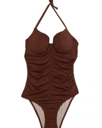 bikini زنانه کاپ - آستین کوتاه - مایو - قهوه ای     Reflections 447973