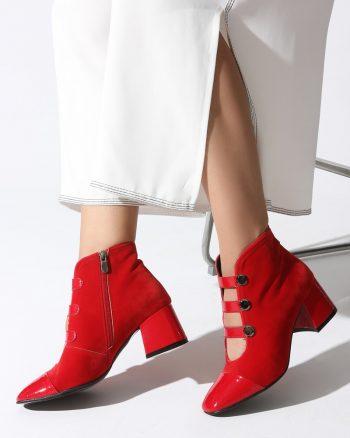 پوتین زنانه پوتین - قرمز   روزانه Rovigo 568078