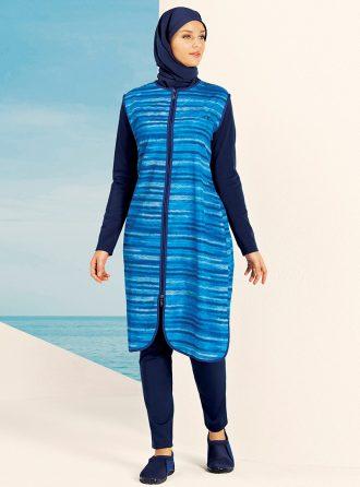 tam kapali mayo زنانه کامل – پوشیده – مایو – آبی     Hasema 432647