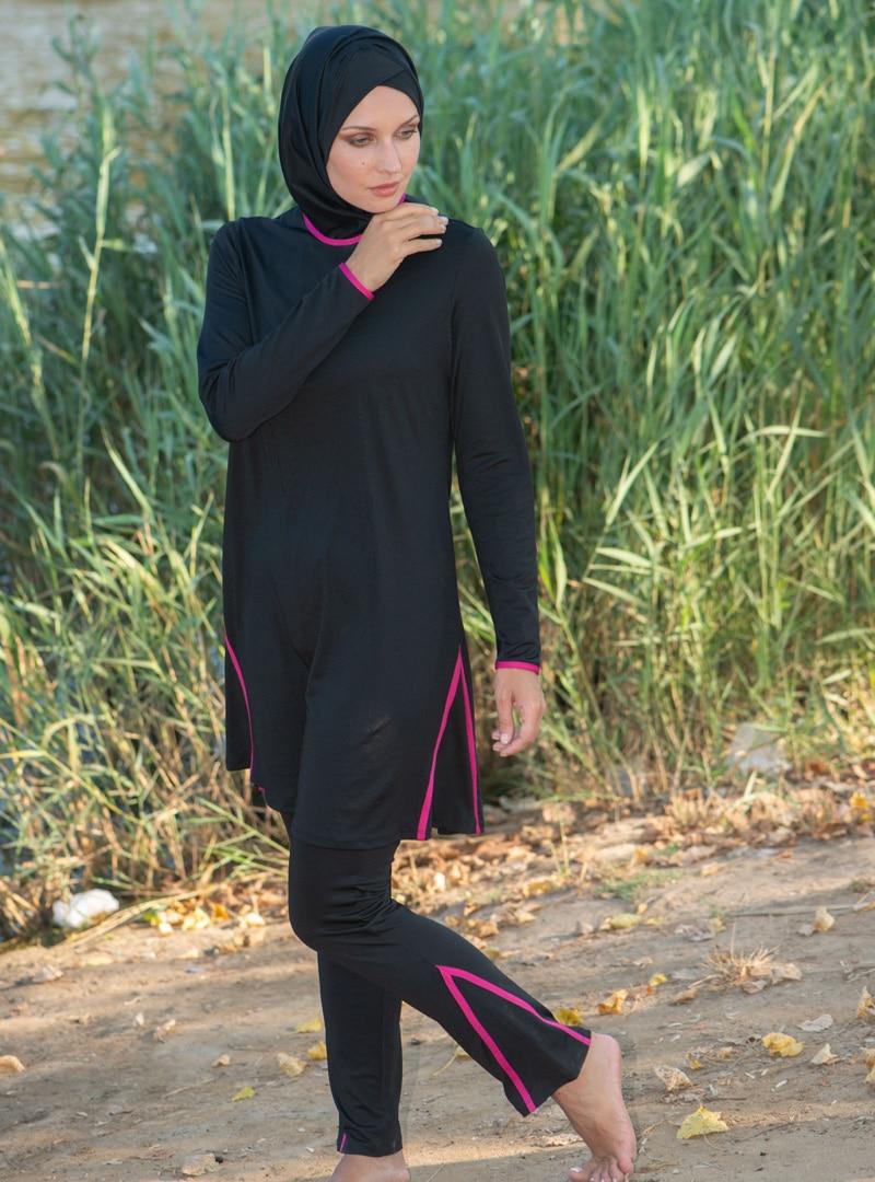 spor deniz/tam kapalı mayo زنانه کامل – مایو – مشکی     Marina Mayo 444660